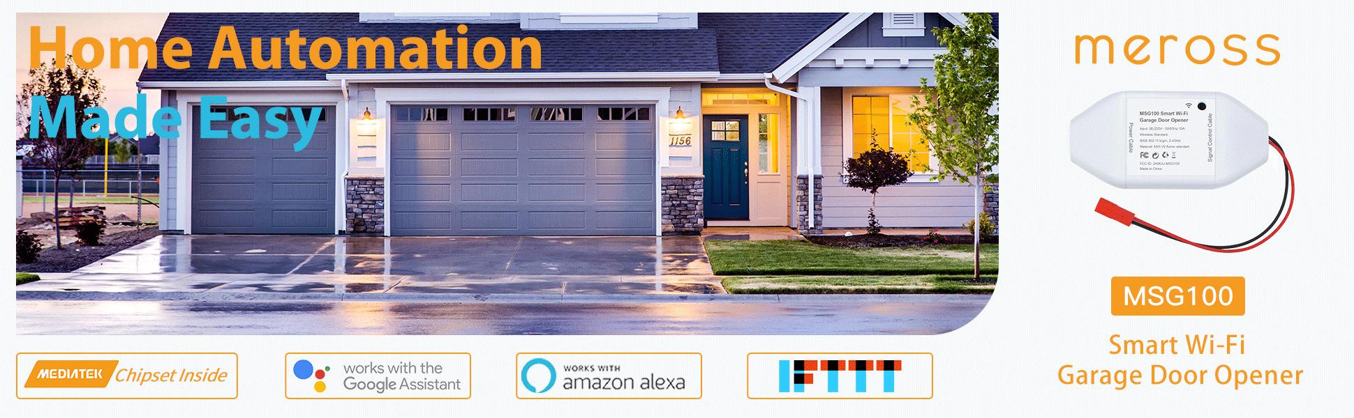 Meross Smart WiFi Garage Door Opener-Network-Smart Home-